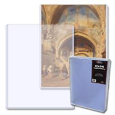 Case / 100 BCW 11 x 14 Hard Plastic Topload Photo Print Holders rigid protector