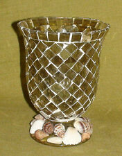 Mosaic Candle Holder with Sea Shells