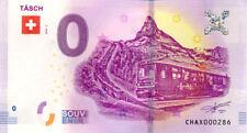 SUISSE Täsch, Train, 2018, Billet 0 € Souvenir