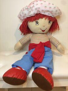 Retro Strawberry Shortcake Large Plush Toy Cutie Vintage