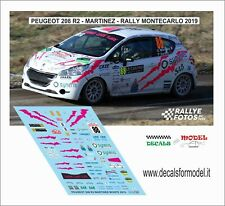 """PEUGEOT 208 R5  /""""BIZZO/"""" RALLY DEI LAGHI 2016  DECALS 1//43"""