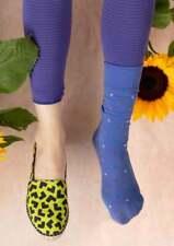 BNWT *Gudrun Sjoden* blue violet stripy footless tights XL