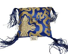 Tibetan Singing Bowl Cushion - Blue