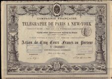 Comp. Francaise de Telegraphe de Paris a New York dd 1879 France