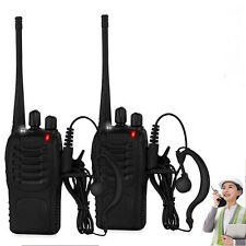 Walkie Talkie UHF 400-470MHZ Ham 2-Way Radio 16CH 5W with US Charger+Earpiece