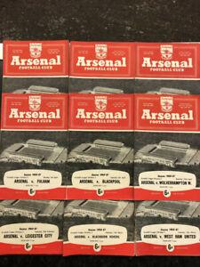Arsenal Home Programmes division 1 complete season 1960-1 (21 programmes)