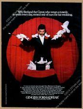 1974 magician Sam Berland photo Gingiss tuxedo formalwear vintage print ad