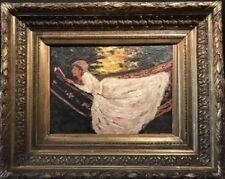 Antique (Pre-1900) Impressionism Portrait Art Paintings