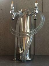 Draft Beer Tower, Olmstead Dual Faucet Stainless Steel