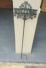 Brand new planter welcome sign. Entrance. HOME. Decor. French.
