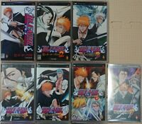 PSP BLEACH Heat the Soul 1 2 3 4 5 6 7 set Japan 7 Game PlayStation Portable