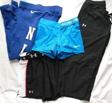 Womens Fitness Lot (4) UNDER ARMOUR & NIKE Pants & Shorts Sz S