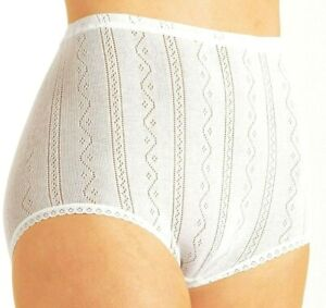 Brettles Natural Luxury Cotton Briefs Twin Pack Size XL White