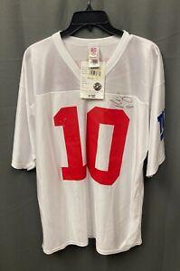 Eli Manning #10 Signed New York Giants Jersey Autographed Sz L PSA/DNA COA