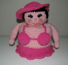 Handmade Toilet Paper Roll Cover Crochet BIKINI LADY bathroom fun decoration new