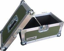 "7"" solo 200 Cisne Estuche de viaje caja de discos de vinilo (PVC) rígido Verde Oliva"