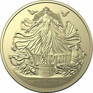 2019 Australian Centenary of the Treaty of Versailles $1 coin PNC