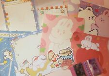 19 pcs Cute Stationary Set for Penpal(Memo Sheets, Sticker Flakes, Etc)