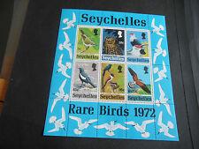 SEYCHELLES, 1972 SG MS314 RARE BIRDS OF SEYCHELLES MIN/ SHEET, MNH