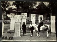 1900s China - Weihaiwei /Shandong area Chinese Graves -original Photo 14 by 10cm