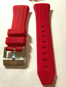 Genuine TechnoMarinE RED Strap Band  FOR 34MM  Watch case  SOFT SILICONE