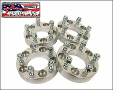 "4 pcs 1.25"" Wheel Spacers for Jeep Wrangler JK or Rubicon 5x5 6061 T6 USA MADE"