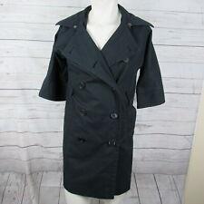 Club Monaco XS Jacket Womens Navy Double Breasted Trench Coat