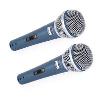 2X DEX-S58 Professional Dynamic Vocal Studio Recording Microphone 2 set-UK