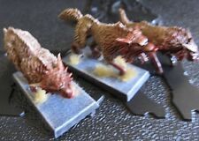 Warhammer 40000 Space Wolves Wolves x 3 painted