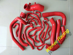 SILICONE HOSE FOR TOYOTA SUPRA MK3 MA70 7M-GE/7M-GTE 3.0 TURBO 86-92 RED 26PCS