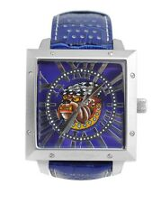 ED HARDY BY CHRISTIAN AUDIGIER DEFENDER BULLBOG DE-BD GENTS MENS LEATHER WATCH