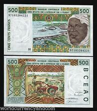 WEST AFRICAN STATES NIGER 500 FRANCS P610H 1997 DAM UNC CURRENCY MONEY BILL NOTE