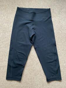 ADIDAS CLIMALITE Black Below Knee Crop Leggings M UK10/12