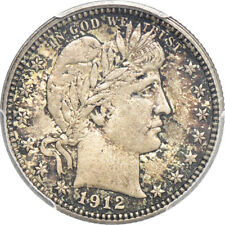 1912 Barber Quarter MS / Mint State 62, PCGS 25C C00026119