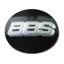 1x BBS Klebelinse Emblem Symbolscheibe Nabendeckel 68mm silber/carbon 0924284