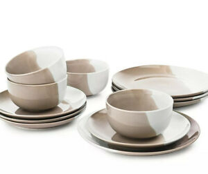 The Cellar Color 12-Pc. Dinnerware Set, Service for 4 $180 Taupe j