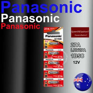 5 x 27A Panasonic 12V 27A/A27 Battery Batteries Garage Car Remote Alarm