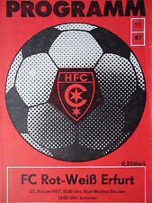 Programm 1987/88 HFC Chemie - RW Erfurt