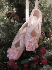 NEW HOBBY LOBBY PINK BALLET SLIPPERS CHRISTMAS TREE ORNAMENT