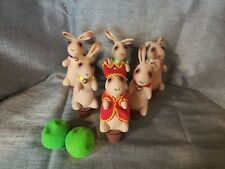 Schylling Bowling Bunnies Game Bunny pins with bean bag balls