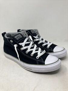 Converse Street Canvas Mid Top Men's Sneaker Size 11 M US Black/White