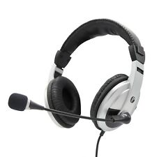 Computer Headset - With Microphone - Noise Cancelling and Lightweight - for P...