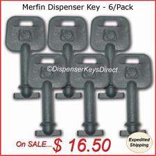 Merfin Dispenser Key for Paper Towel, Toilet Tissue Dispensers - (6/pk.)