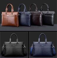 New Business Mens Leather Briefcase Laptop Bag Handbag Shoulder Messenger Bag