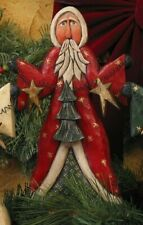 Santa with Wire Garland by Whispering Pines Carving