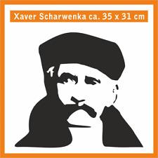 XAVER SCHARWENKA Wandtatoo, ca. 35 x 31 cm, Hochleistungsfolie mit Montagepapier