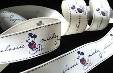 1 inch classic MICKEY Mouse Disney grosgrain RIBBON vintage ivory cream color
