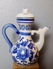"""Vintage Bombay Blue and White Tea Pot with Lid 7.5"""""""