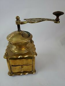 Antique Solid Brass Coffee Grinder Mill Moulin cafe Molinillo Kaffeemuehle