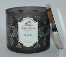 BATH & BODY WORKS FIRESIDE SCENTED CANDLE 3 WICK LARGE 14.5OZ SMOKED CEDAR CLOVE